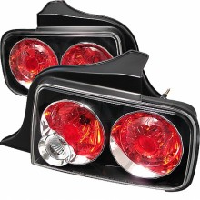 2005-2009 Ford Mustang Euro Style Tail Lights (PAIR) - Black (Spyder Auto)