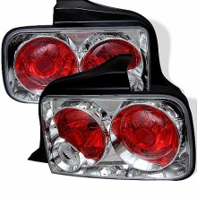 2005-2009 Ford Mustang Euro Style Tail Lights (PAIR) - Chrome (Spyder Auto)