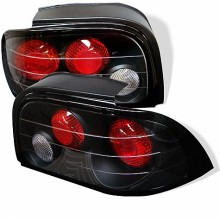 1994-1995 Ford Mustang Euro Style Tail Lights (PAIR) - Black (Spyder Auto)