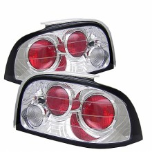 1994-1995 Ford Mustang Euro Style Tail Lights (PAIR) - Chrome (Spyder Auto)