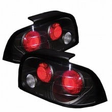1996-1998 Ford Mustang Euro Style Tail Lights (PAIR) - Black (Spyder Auto)