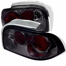 1996-1998 Ford Mustang Euro Style Tail Lights (PAIR) - Smoke (Spyder Auto)
