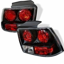 1999-2004 Ford Mustang (will not fit the Cobra model) Euro Style Tail Lights (PAIR) - Black (Spyder Auto)