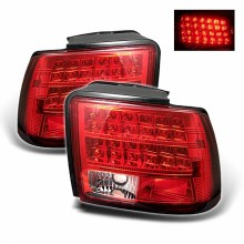 1999-2004 Ford Mustang (will not fit the Cobra model) LED Tail Lights (PAIR) - Red Clear (Spyder Auto)