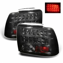 1999-2004 Ford Mustang (will not fit the Cobra model) LED Tail Lights (PAIR) - Smoke (Spyder Auto)