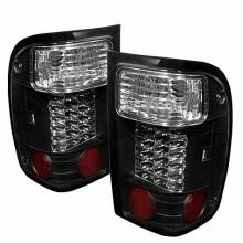 1993-2000 Ford Ranger LED Tail Lights (PAIR) - Black (Spyder Auto)