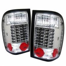1993-2000 Ford Ranger LED Tail Lights (PAIR) - Chrome (Spyder Auto)