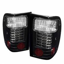 2001-2005 Ford Ranger LED Tail Lights (PAIR) - Black (Spyder Auto)