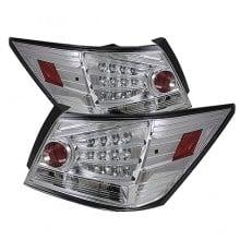2008-2010 Honda Accord 4DR LED Tail Lights (PAIR) - Chrome (Spyder Auto)