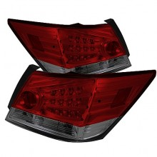 2008-2010 Honda Accord 4DR LED Tail Lights (PAIR) - Red Smoke (Spyder Auto)