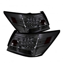 2008-2010 Honda Accord 4DR LED Tail Lights (PAIR) - Smoke (Spyder Auto)