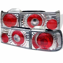 1990-1991 Honda Accord 4Dr Euro Style Tail Lights (PAIR) - Chrome (Spyder Auto)