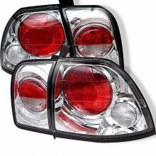 1996-1997 Honda Accord Euro Style Tail Lights (PAIR) - Chrome (Spyder Auto)
