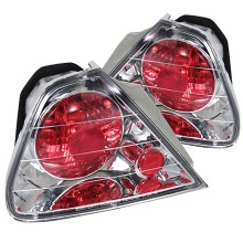 1998-2000 Honda Accord 2Dr Euro Style Tail Lights (PAIR) - Chrome (Spyder Auto)