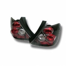 2003-2005 Honda Civic Si Hatchback 3DR Euro Style Tail Lights (PAIR) - Black (Spyder Auto)