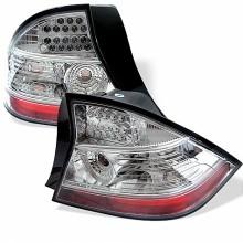 2004-2005 Honda Civic 2Dr LED Tail Lights (PAIR) - Chrome (Spyder Auto)