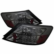 2006-2008 Honda Civic 2Dr LED Tail Lights (PAIR) - Smoke (Spyder Auto)