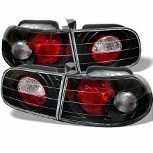 1992-1995 Honda Civic 3DR Euro Style Tail Lights (PAIR) - Black (Spyder Auto)
