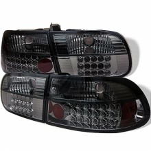 1992-1995 Honda Civic 3DR LED Tail Lights (PAIR) - Smoke (Spyder Auto)