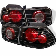 1996-2000 Honda Civic 2Dr Euro Style Tail Lights (PAIR) - Black (Spyder Auto)