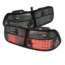 1996-2000 Honda Civic 2Dr LED Tail Lights (PAIR) - Smoke (Spyder Auto)
