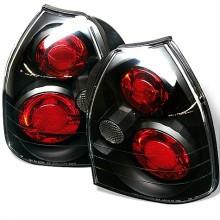 1996-2000 Honda Civic 3DR Euro Style Tail Lights (PAIR) - Black (Spyder Auto)