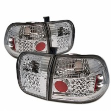 1996-1998 Honda Civic 4Dr LED Tail Lights (PAIR) - Chrome (Spyder Auto)