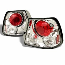 2000-2002 Hyundai Accent 3DR Hatch Back Euro Style Tail Lights (PAIR) - Chrome (Spyder Auto)