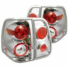 2003-2006 Lincoln Navigator Euro Style Tail Lights (PAIR) - Chrome (Spyder Auto)