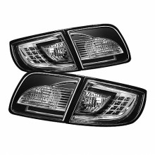 2003-2008 Mazda 3 4Dr Sedan ( Non Hatchback ) LED Tail Lights (PAIR) - Black (Spyder Auto)