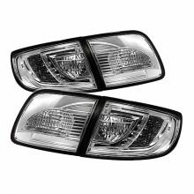 2003-2008 Mazda 3 4Dr Sedan ( Non Hatchback ) LED Tail Lights (PAIR) - Chrome (Spyder Auto)