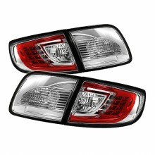 2003-2008 Mazda 3 4Dr Sedan ( Non Hatchback ) LED Tail Lights (PAIR) - Red Clear (Spyder Auto)