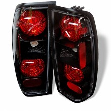 1998-2000 Nissan Frontier Euro Style Tail Lights (PAIR) - Black (Spyder Auto)