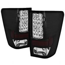 2004-2012 Nissan Titan LED Tail Lights (PAIR) - Black (Spyder Auto)