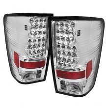 2004-2012 Nissan Titan LED Tail Lights (PAIR) - Chrome (Spyder Auto)