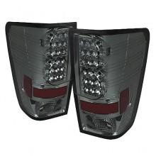 2004-2012 Nissan Titan LED Tail Lights (PAIR) - Smoke (Spyder Auto)