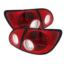 2003-2008 Toyota Corolla LED Tail Lights (PAIR) - Red Clear (Spyder Auto)