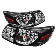 2009-2010 Toyota Corolla 2010 LED Tail Lights (PAIR) - Black (Spyder Auto)