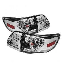 2009-2010 Toyota Corolla LED Tail Lights (PAIR) - Chrome (Spyder Auto)