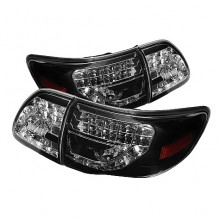 2009-2010 Toyota Corolla ( LED Indicator ) LED Tail Lights (PAIR) - Black (Spyder Auto)