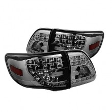 2009-2010 Toyota Corolla ( LED Indicator ) LED Tail Lights (PAIR) - Chrome (Spyder Auto)