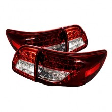 2009-2010 Toyota Corolla ( LED Indicator ) LED Tail Lights (PAIR) - Red Clear (Spyder Auto)