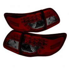 2009-2010 Toyota Corolla LED Tail Lights (PAIR) - Red Smoke (Spyder Auto)