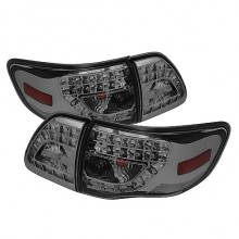2009-2010 Toyota Corolla LED Tail Lights (PAIR) - Smoke (Spyder Auto)