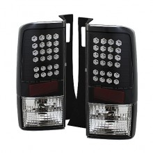 2003-2007 Scion XB LED Tail Lights (PAIR) - Black (Spyder Auto)