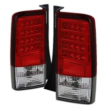 2003-2007 Scion XB Version 2 LED Tail Lights (PAIR) - Red Clear (Spyder Auto)