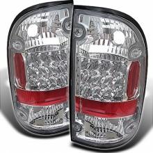 2001-2004 Toyota Tacoma LED Tail Lights (PAIR) - Chrome (Spyder Auto)