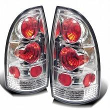 2005-2012 Toyota Tacoma Euro Style Tail Lights (PAIR) - Chrome (Spyder Auto)