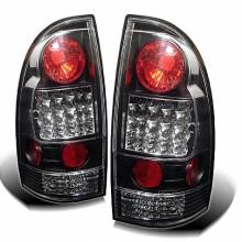 2005-2012 Toyota Tacoma LED Tail Lights (PAIR) - Black (Spyder Auto)