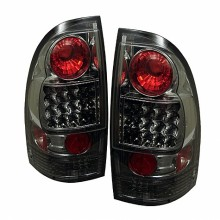2005-2012 Toyota Tacoma LED Tail Lights (PAIR) - Smoke (Spyder Auto)